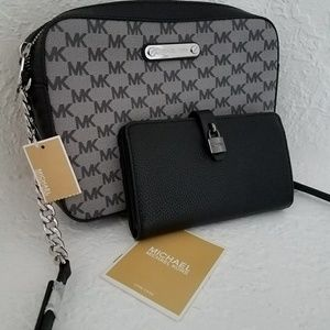 new set wallet and handbag MICHAEL kors Authentic